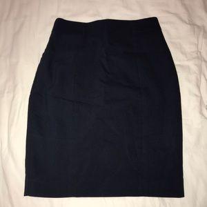 Ships today!  Navy Pencil skirt